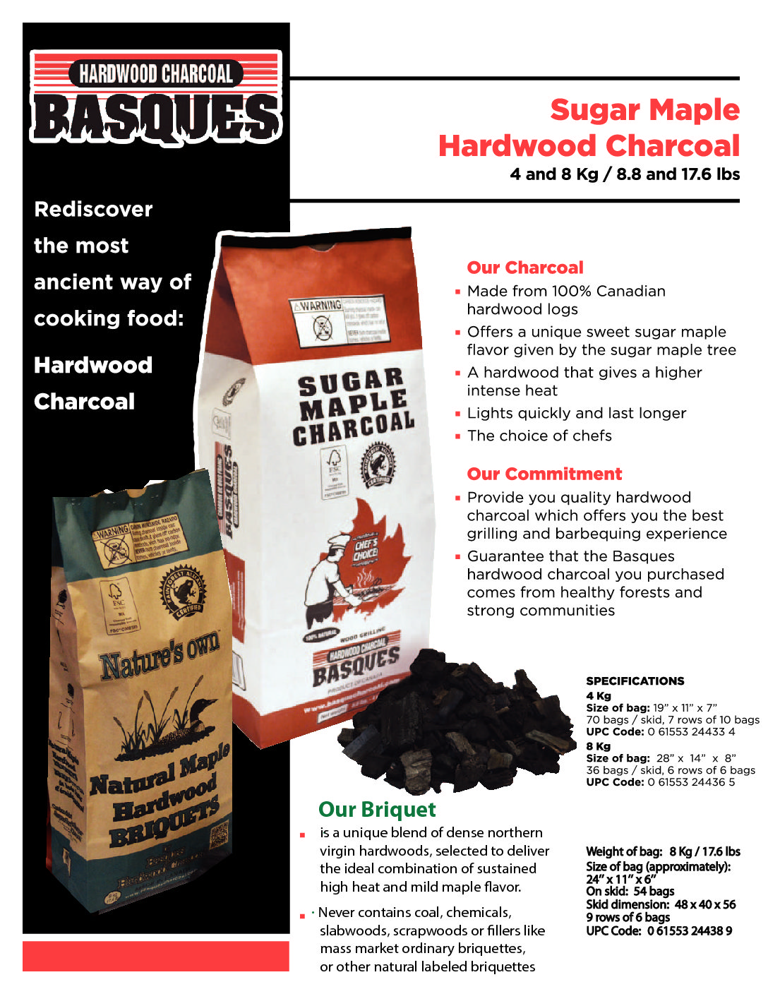 Sugar Maple Charcoal